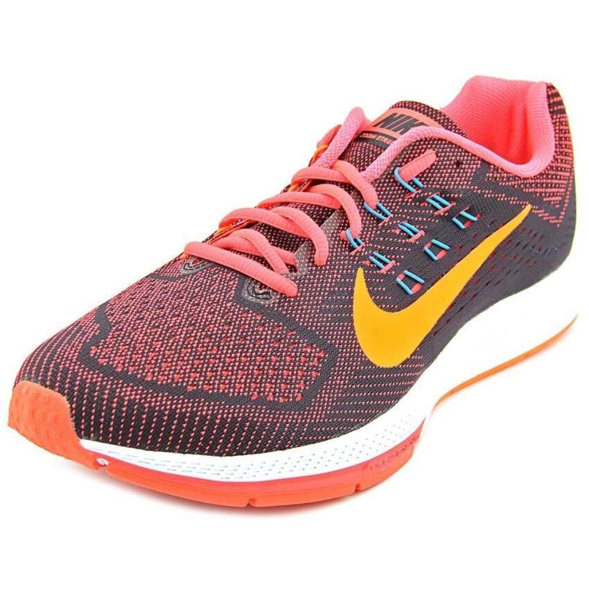 Nike Air Zoom Structure 18 Mens Bright Crimson/Total Orange/Black Running Sneakers (11) - intl