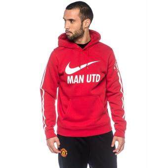 Harga Nike Manchester United Club Core Soccer Hoodie - Red