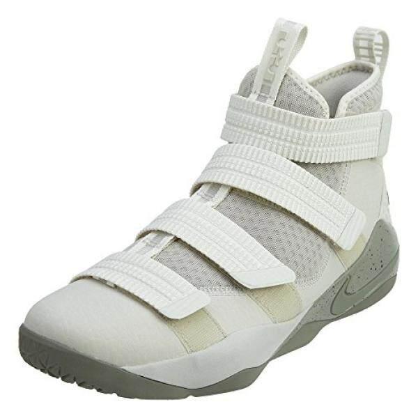 NIKE Mens Lebron Soldier XI SFG Basketball Shoes Light Bone/Dark Stucco-Black 897646-005 - intl