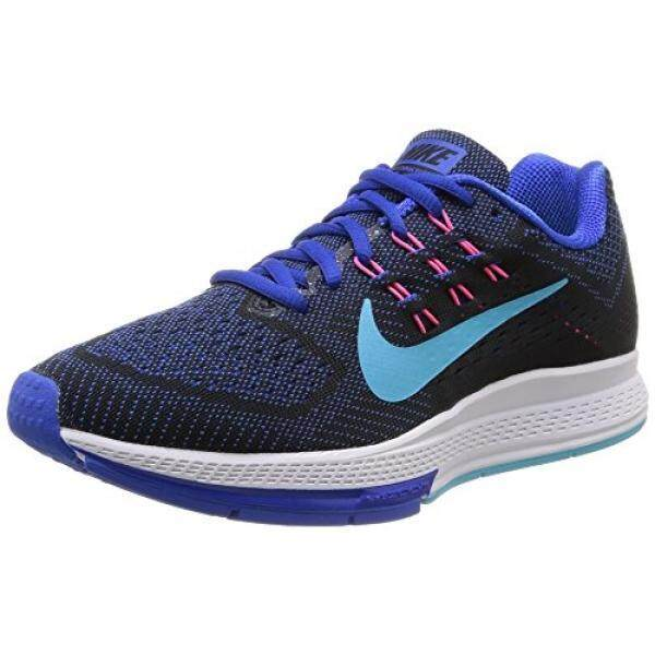 NIKE nike womens air zoom structure 18 running trainers 683737 sneakers shoes (US 6, lyon blue black pink 400) - intl