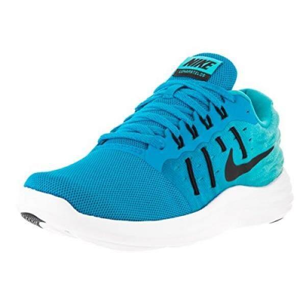 Nike Womens Wmns LunarStelos, BLUE GLOW/BLACK-GAMMA BLUE-WHITE, 7.5 US - intl