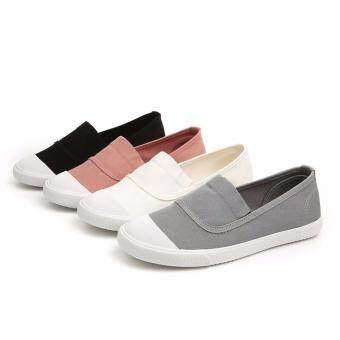 Ocean NEW Ladies fashion Flat shoes Han edition Canvas shoes(Pink) - 5