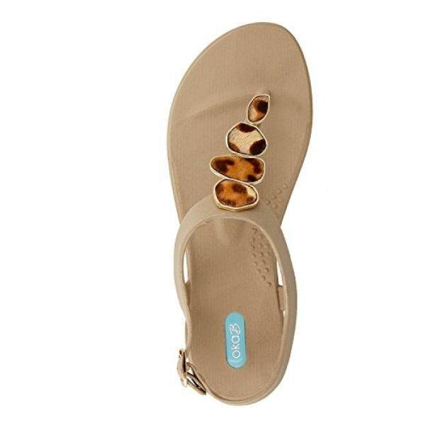 Okab Oka-B Nova Lipat Flop Sandal Sepatu dengan Tali Pergelangan Kaki Oleh Okab Warna Chai (9) -Internasional