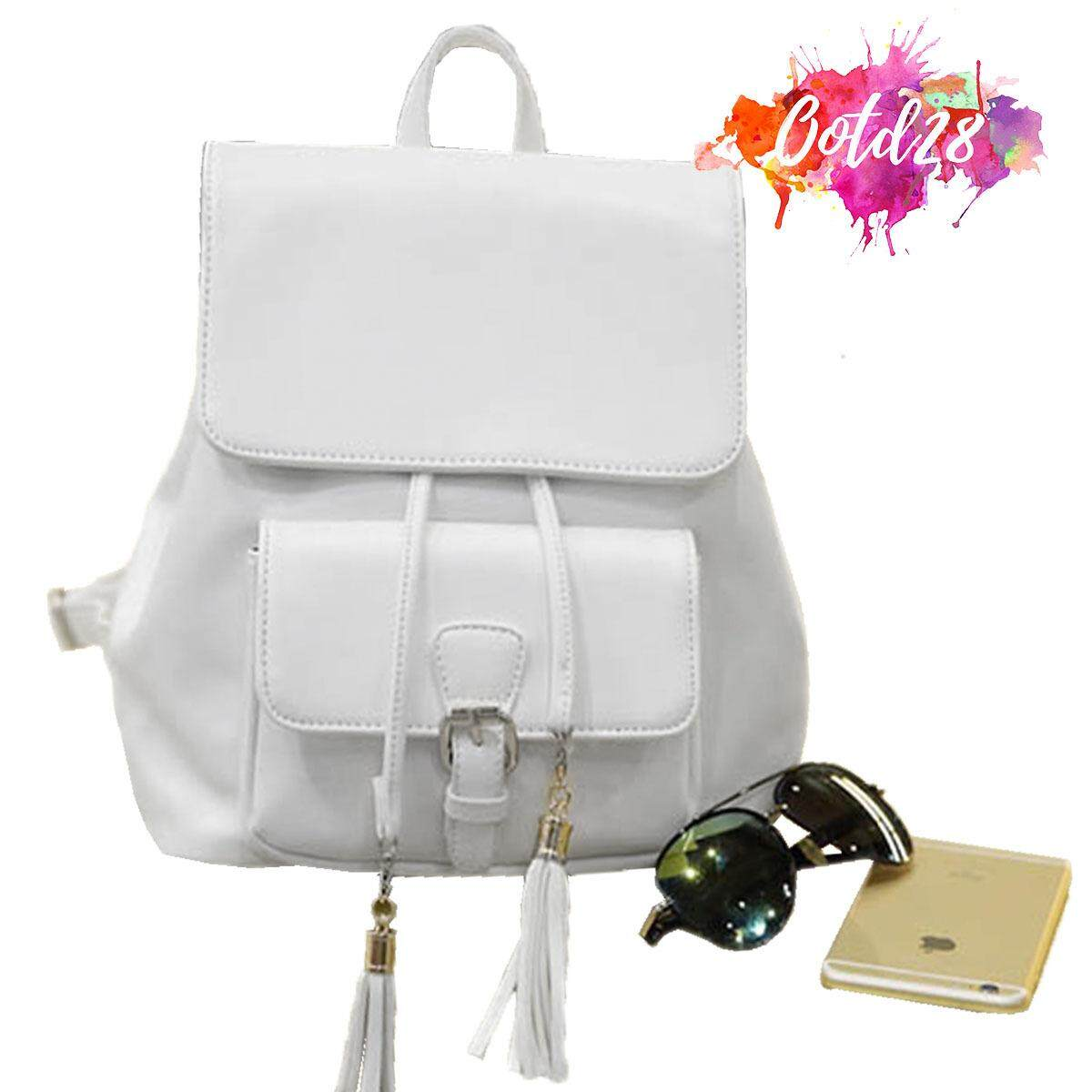 583b244fb6 OOTD28 329W Women Designer For Her Leather Backpack Bag White
