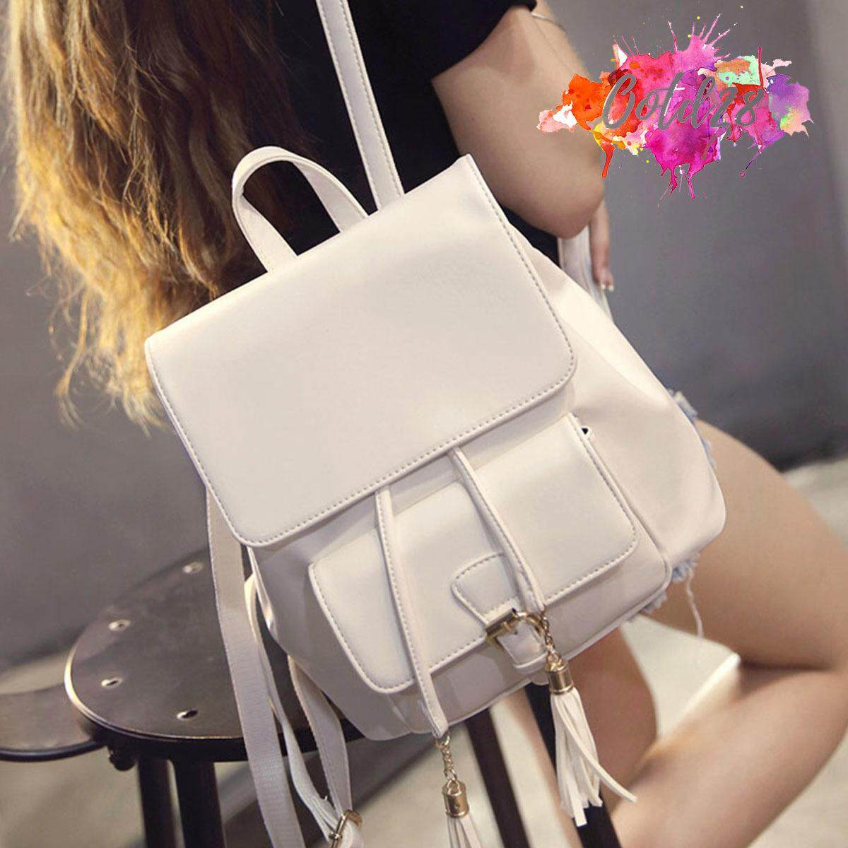 OOTD28 329W Women Designer For Her Leather Backpack Bag White d8a42e4a5f2e5