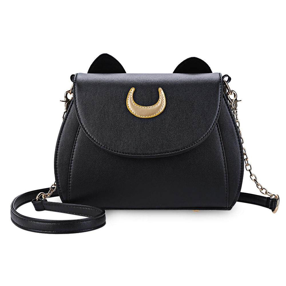 e82cf61705 ootd28 cute cat sailormoon rivet shoulder messenger bag sling bag ...