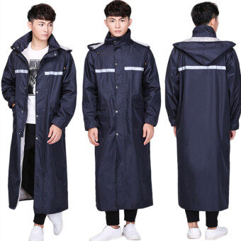 Outdoor jacket Motorcycle Single Person adult raincoat one-piece raincoat (Navy Blue)
