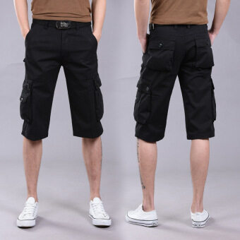 Harga Outdoor men's new summer slacks shorts at five men's cottonoveralls more men's trousers pocket