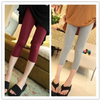Outer wear thin section Slim fit modal feet pants bottoming pants (Watermelon red) (Watermelon red)
