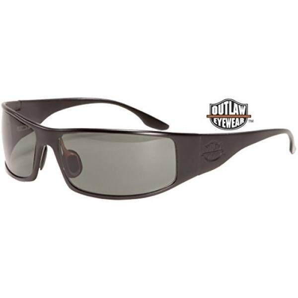 Outlaw Kacamata Pria Buronan TAC Bingkai Hitam, Tambahan Gelap Transisi Lensa Siang Hari Kacamata-Internasional