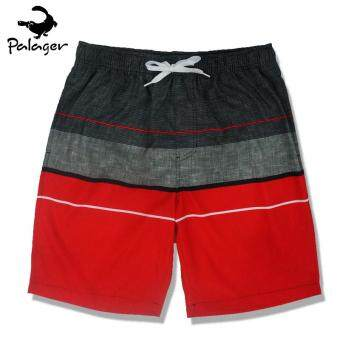 Palager Retro 50s Board Shorts Men's Quick-drying Men's SwimsuitShorts Beach Summer Wear Shorts M-3xl - Red