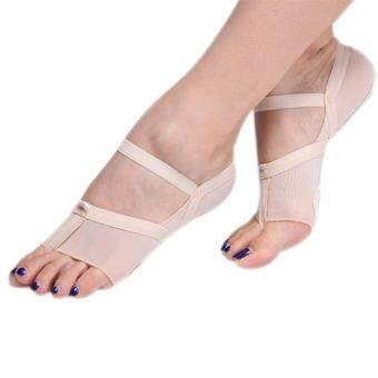 Harga PAlight Belly Dance Shoes Foot Thongs Pads Karate Yoga Shoes LyricDance Shoes Sandal Barefoot Dance Shoes for Women Man (Size:L)