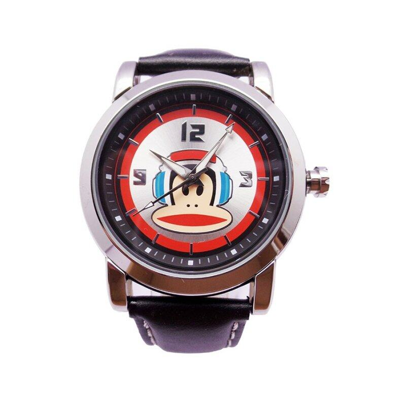 Paul Frank Mens Black Leather Strap Watch PFFR1230-01C Malaysia