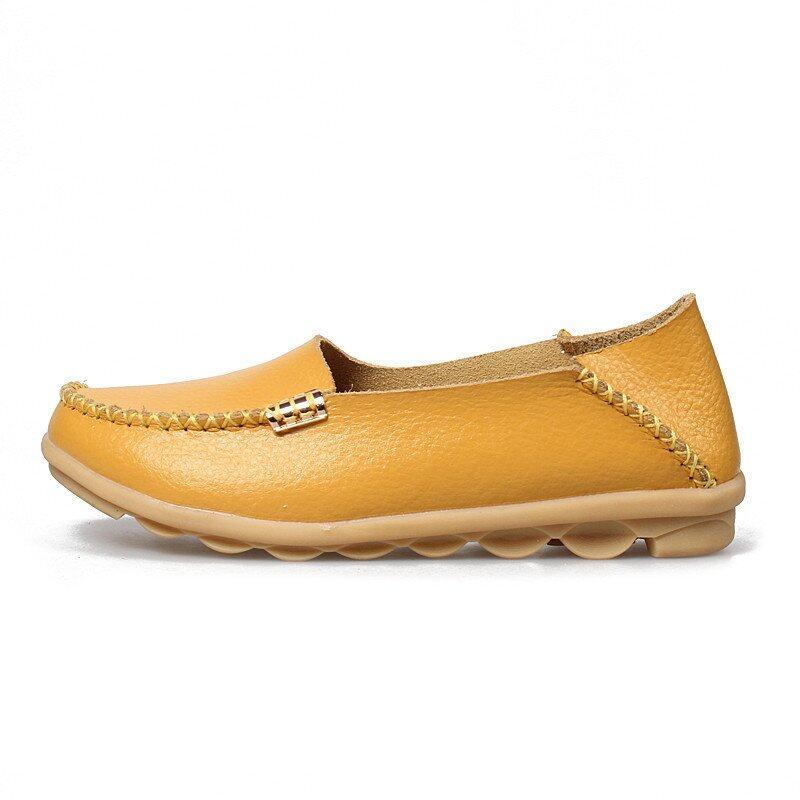 Detail Gambar PINSV 35-44 Women Big Sies Shoes Moccasin Mom Anti-skid  Loafers Terbaru b5fb344f7e