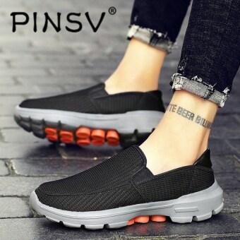 Pinsv Besar Ukuran 37-45 Pria dan Wanita Dapat Bersirkulasi Sneakers  Berlari Olahraga Sepatu Kasual a3bfa15873