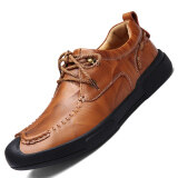 ขาย Pinsv Genuine Leather Men S Formal Shoes Business Casual Shoes Brown ใหม่