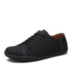 ราคา Pinsv Men Fashion Flace Shoes Casual Shoes Black ราคาถูกที่สุด