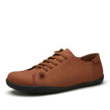 ราคา Pinsv Men Fashion Flace Shoes Casual Shoes Brown ใหม่
