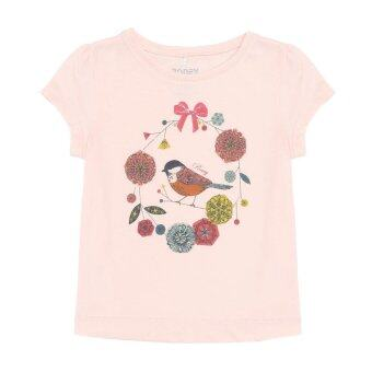PONEY LITTLE BIRDY DIGITAL PRINT TEE (BLUSH PINK)