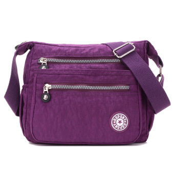Popular Women's Shoulder Bags Nylon Material Streets Style Cross Body Bag Classic Ladies Bags - Purple