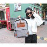 [PRE-ORDER] Couple's Men's Women's Canvas Large Capacity Student Backpack - Grey