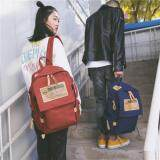 [PRE-ORDER] Couple's Men's Women's Canvas Large Capacity Travel Backpack - Orange