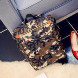 [PRE-ORDER] High-capacity Canvas Female Student PC Computer 15.6 Inch Backpack - Camouflage