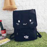 [PRE-ORDER] Japan Harajuku Kitty Cat Canvas Backpack Female Student Bag - White