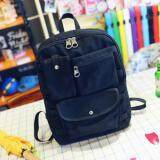 [PRE-ORDER] Women Canvas Casual Travel Student Backpack - Black