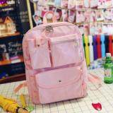 [PRE-ORDER] Women Canvas Casual Travel Student Backpack - Pink