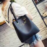 [PRE-ORDER] Women Retro Square Bucket Bag - Black
