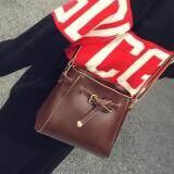 [PRE-ORDER] Women Retro Square Bucket Bag - Dark Brown