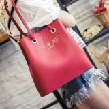 [PRE-ORDER] Women Retro Square Bucket Bag - Red