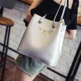 [PRE-ORDER] Women Retro Square Bucket Bag - Silver