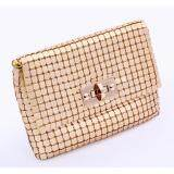 [PRE-ORDER] Women Shinny Zipped Dinner Clutch Gold