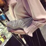 [PRE-ORDER] Women Shiny Diamond Sling Dinner Evening Handbag Grey