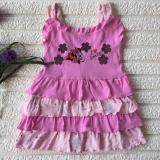 PREMIUM QUALITY Cute Flowery Layered Dress for Girls - Pink