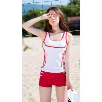 Harga ?Ready Stock -NEW- Fast Delivery?Korean Fashion Swim Wear Swimsuit 2pcs Sets - 850124SWPC ( WHITE )