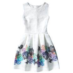 ราคา Retro Flower Slim High Waist A Lined Pop Midi Dresses Color First Pic Kisnow ใหม่