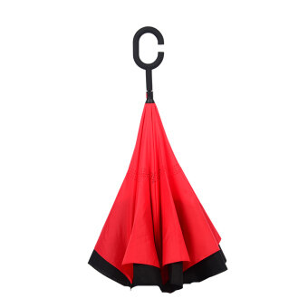 Reverse Stand take hands-free-long-handled umbrella excellent rainor shine umbrella (China red (reverse umbrella)) (China red(reverse umbrella))