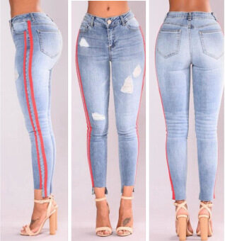 Ripped Jeans for Women Skinny Denim Jeans Female Stretch Jeans Slim Pencil Pants
