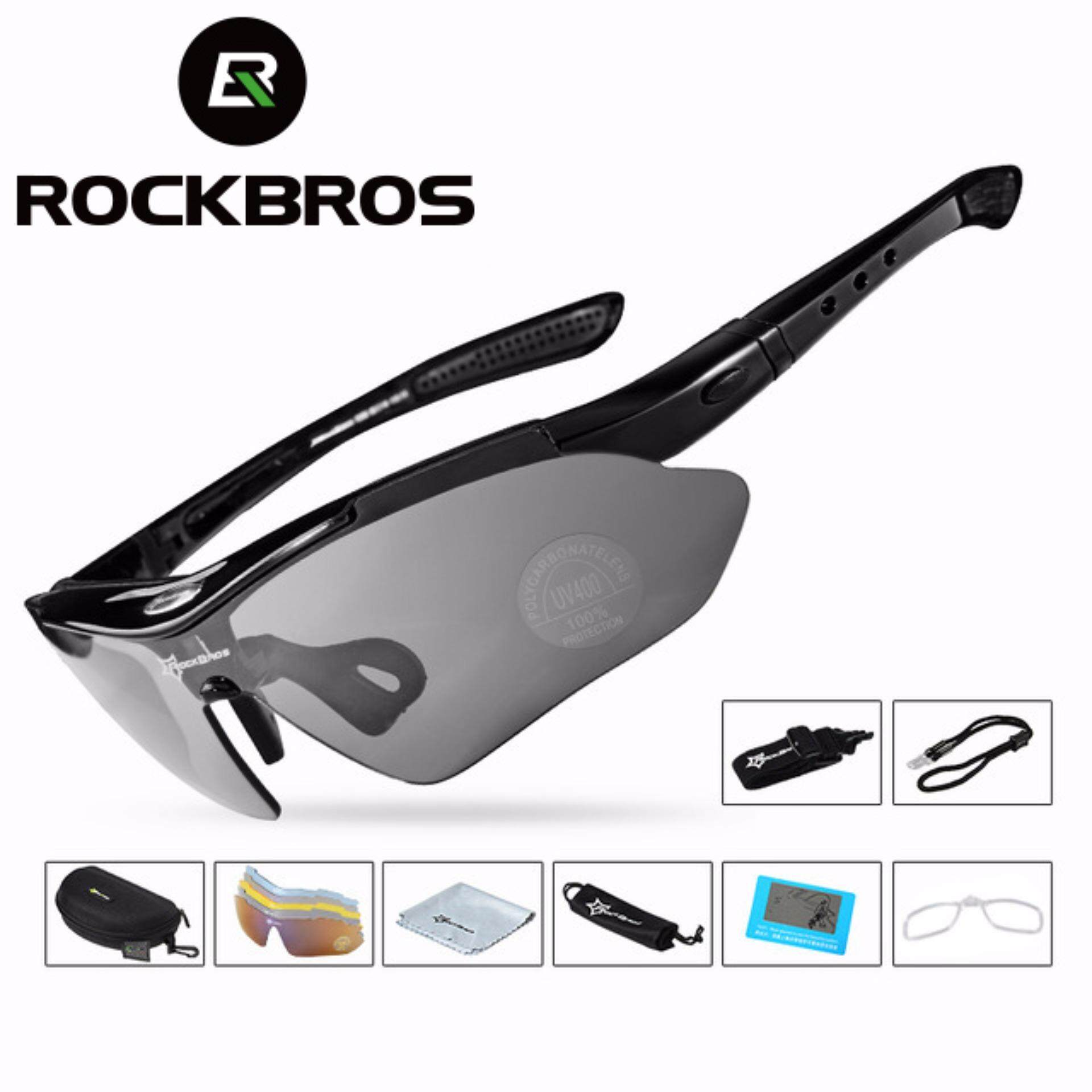 Olahraga Sepeda Merah Hitam. Source · RockBros Polarized Cycling Bike Sun Glasses .