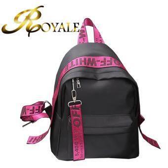 GTE ROYALE High Quality Fashion Casual Handbeg Wanita Korean Style Oxford Nylon Backpack - Pink -