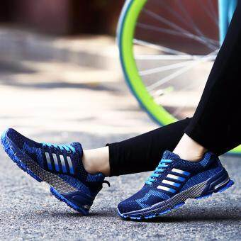 Harga Running Shoes Men Sneakers Casual Athletic Shoes Man SportsShoes(blue)