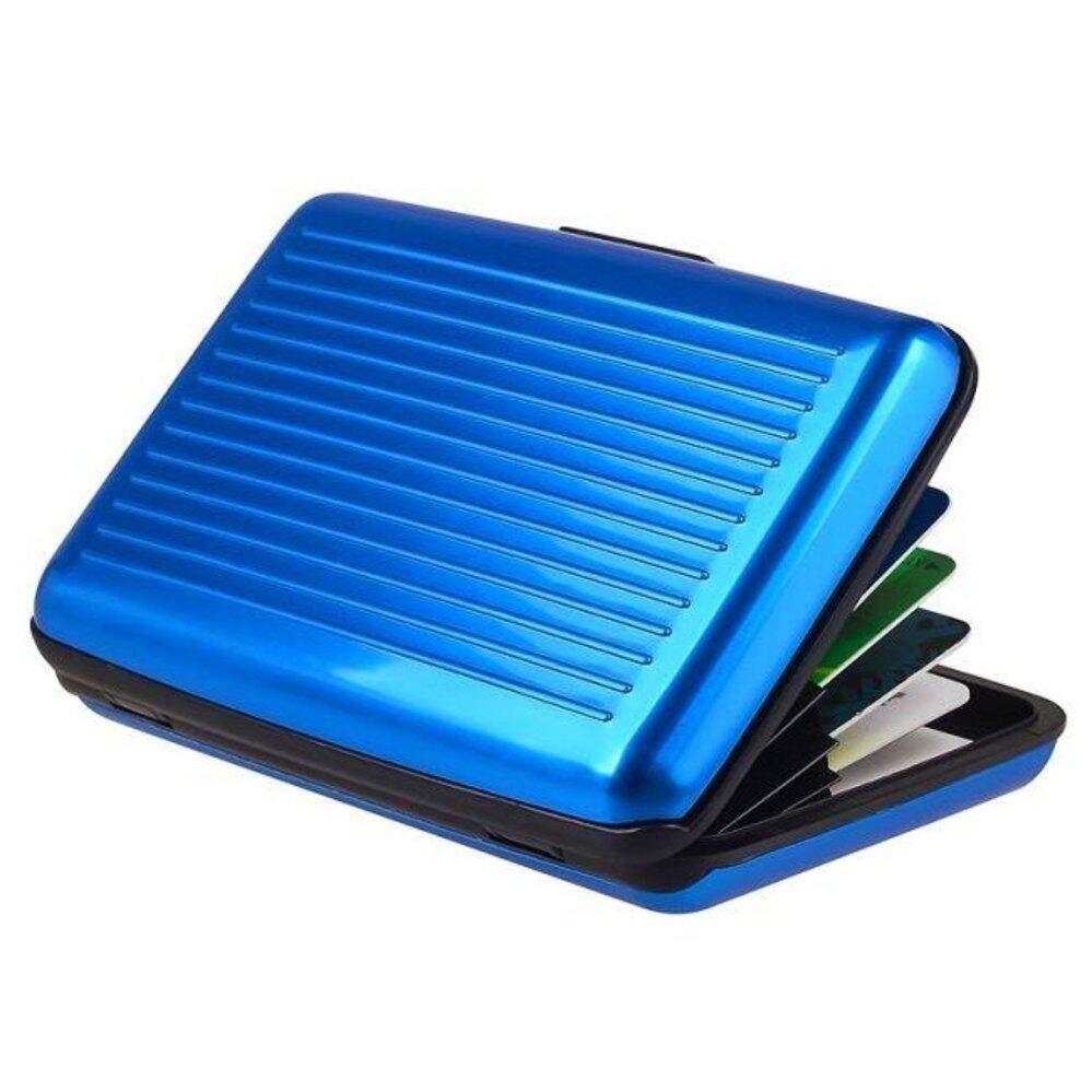 SafeKad RFID Blocking Aluminium Card Holder Credit Card IC Business Wallet Waterproof Case Box