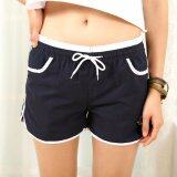 SAGE Candy Color Women Shorts Casual Fashion Ladies Short Pant - Navy