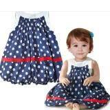 Sage Polka Dot Chiffon Blue Lantern Dress