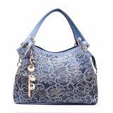 Sage Ultra Soft High Quality PU Leather Handbag Hollow out Bags Shoulder Bag Color Gradient Tassel Bag Blue