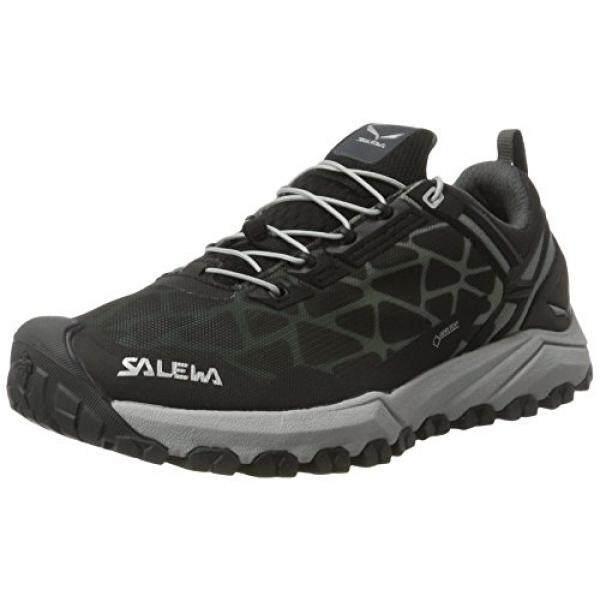 Salewa Salewa Wanita Multi Jalur GTX Kecepatan Sepatu Daki Gunung, Hitam/Perak, 6-Internasional