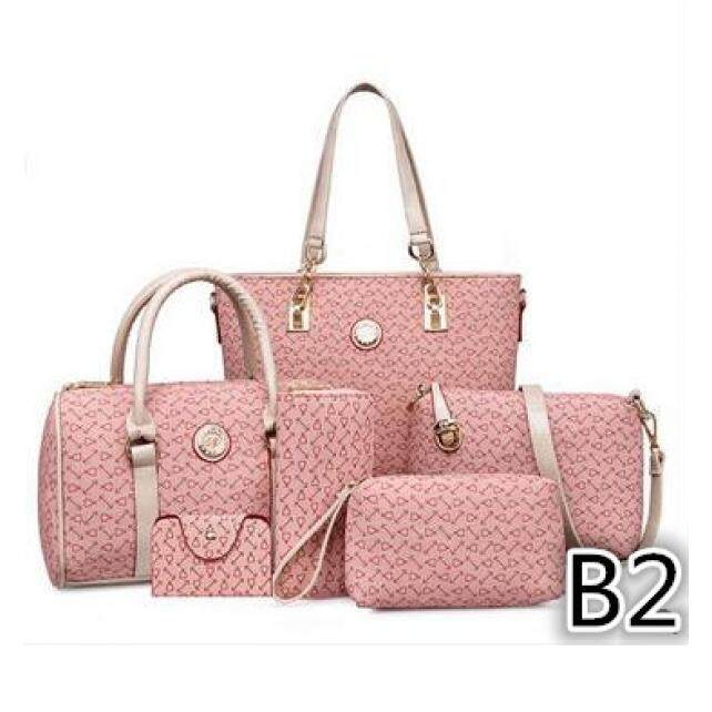S&S 2016 New 6in1 Female HandBag  Pink(B2)